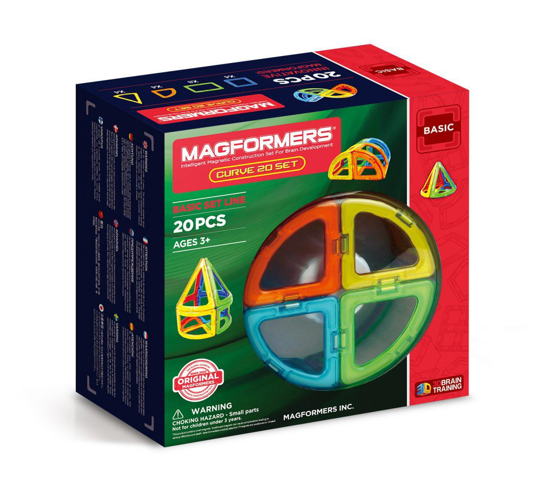 Magformers Curve 20, 20 элементов