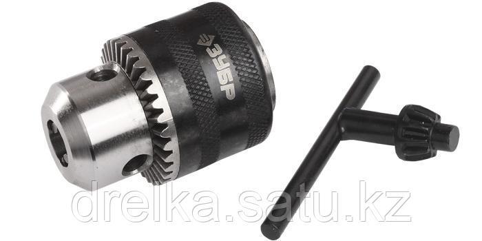 Патрон ключевой ударный для дрели ЗУБР 2908-10-1/2_z01, ЭКСПЕРТ, цельнометаллический, с ключом, 10 мм, 1/2