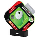 Силиконовая беспроводная мышь Crown CMM-931W Green, фото 2