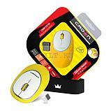 Силиконовая беспроводная мышь Crown CMM-931W Yellow, фото 3
