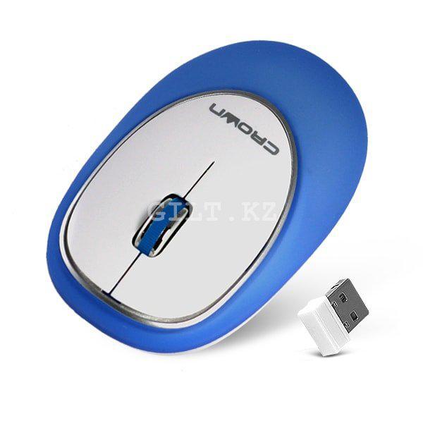 Силиконовая беспроводная мышь Crown CMM-931W Blue