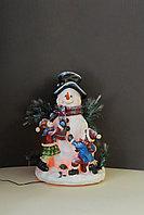 Веселый Снеговик с подсветкой