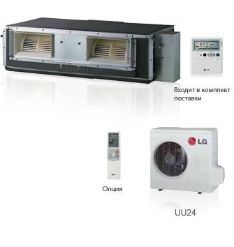 Кондиционер LG: UB 24 (канального типа), фото 2