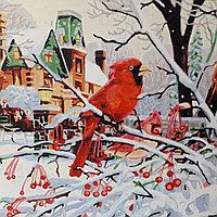 Картина «Снегирь на ветке зимой» GX6189