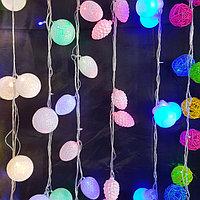 Гирлянды светодидные  шары и шишки