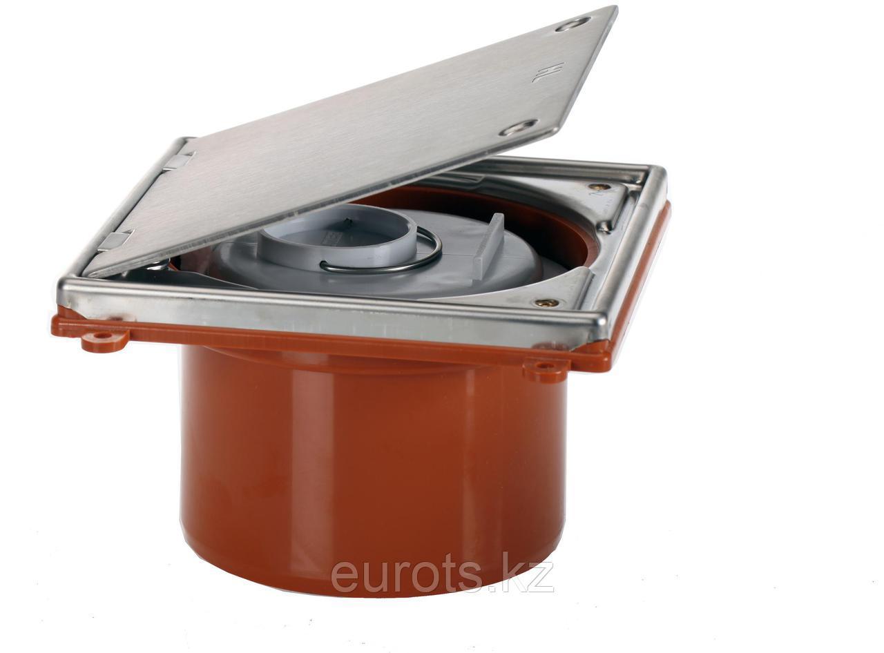 Лючок прочистка/ревизия с герметичной пробкой из ПП и фиксирующейся 2-мя винтами крышкой HL98
