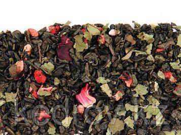 Чай Земляничный со сливками (зеленый ароматизированный) 0,5 кг