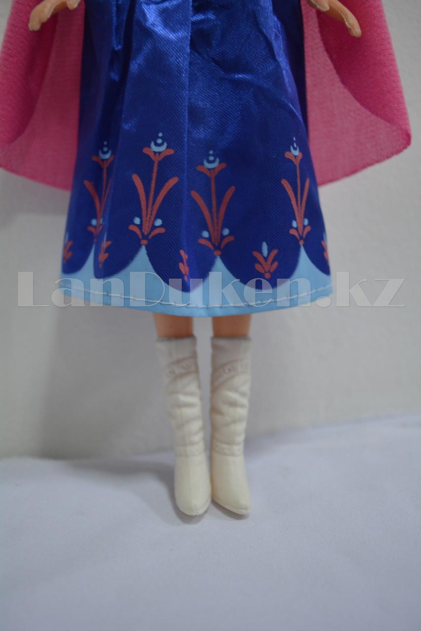 Детская музыкальная кукла Анна Холодное сердце (Frozen) 35 см - фото 4