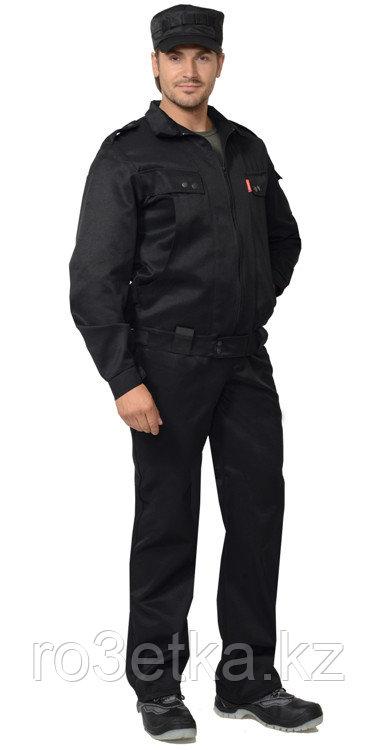"""Костюм """"ОХРАНА"""" куртка, брюки (тк.смесовая) черный"""