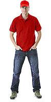 Рубашка-поло короткие рукава красная, пл. 205 г/кв.м.
