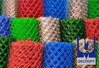 Сетка рабица с полимерным покрытием 10x10x1,2 раскрой 1 м х 10 м