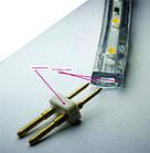 Светодиодная лента (плоский дюралайт) 220v 5050 (желтый) бухта - 100м., фото 2