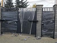 Распашные ворота с калиткой и с автоматикой