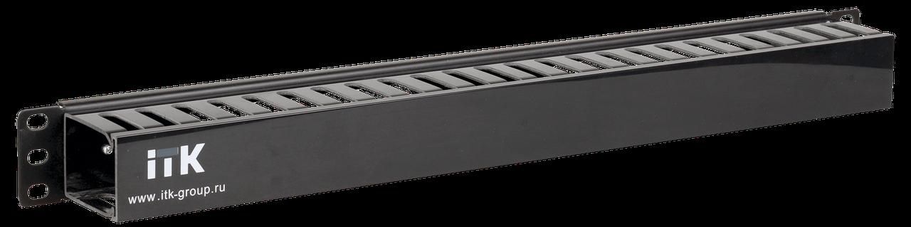 """ITK 19"""" металлический кабельный органайзер 2U, 5 колец, черный, фото 2"""