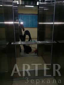 Установка зеркала в лифт, г.Алматы 1
