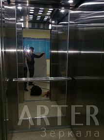 Установка зеркала в лифт, г.Алматы 2