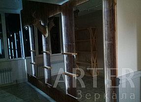Изготовление и установка зеркал с подсветкой, г.Алматы 2