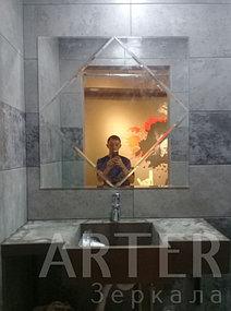 Изготовление зеркала с фацетом, установка зеркала в санузел, Алматы 1