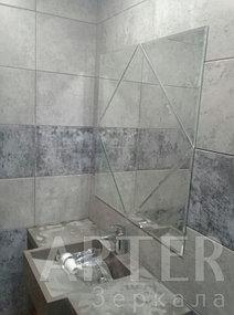 Изготовление зеркала с фацетом, установка зеркала в санузел, Алматы 2