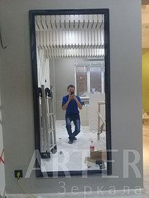 Изготовление и установка зеркала в багетной рамке, г.Алматы 1