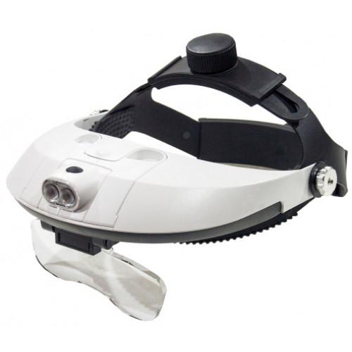 Kromatech MG81001-H Лупа-очки налобная бинокулярная 1.0-6x, с подсветкой (2 LED)
