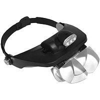 Kromatech MG81001-E Лупа-очки налобная бинокулярная 1.2/1.8/2.5/3.5x, с подсветкой (3 LED), фото 1