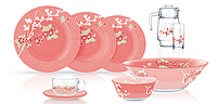 Столовый сервиз Luminarc Japanese Pink 46 предметов на 6 персон