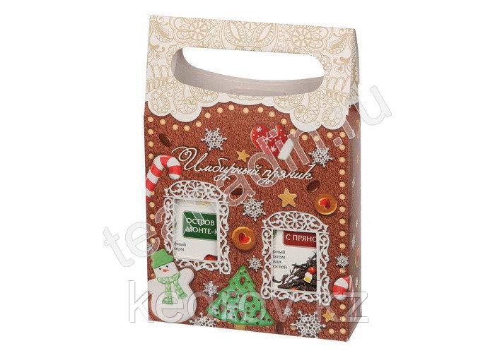 """Подарочный набор """"Имбирный пряник"""", 2 пачки по 50 гр., картон"""