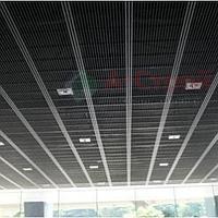 Потолок Грильято «Жалюзи» (цвет Черный, Бежевый)