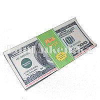 """Шуточные фальшивые деньги """"Доллар"""" 100 штук"""