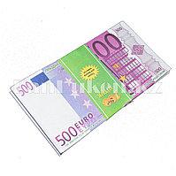 """Шуточные фальшивые деньги """"500 EURO"""" 100 штук (деньги для выкупа невесты)"""