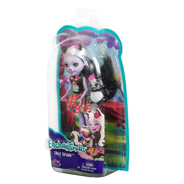 Mattel Enchantimals DYC75 Кукла Седж Скунси, 15 см - фото 7