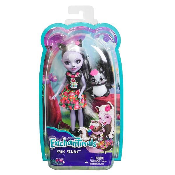 Mattel Enchantimals DYC75 Кукла Седж Скунси, 15 см - фото 8