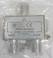 Сплиттер PROconnec   5-1000 MHz   2 отвода