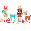 Mattel Enchantimals Набор из двух кукол с любимыми зверюшками
