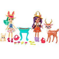 Mattel Enchantimals Набор из двух кукол с любимыми зверюшками, фото 1