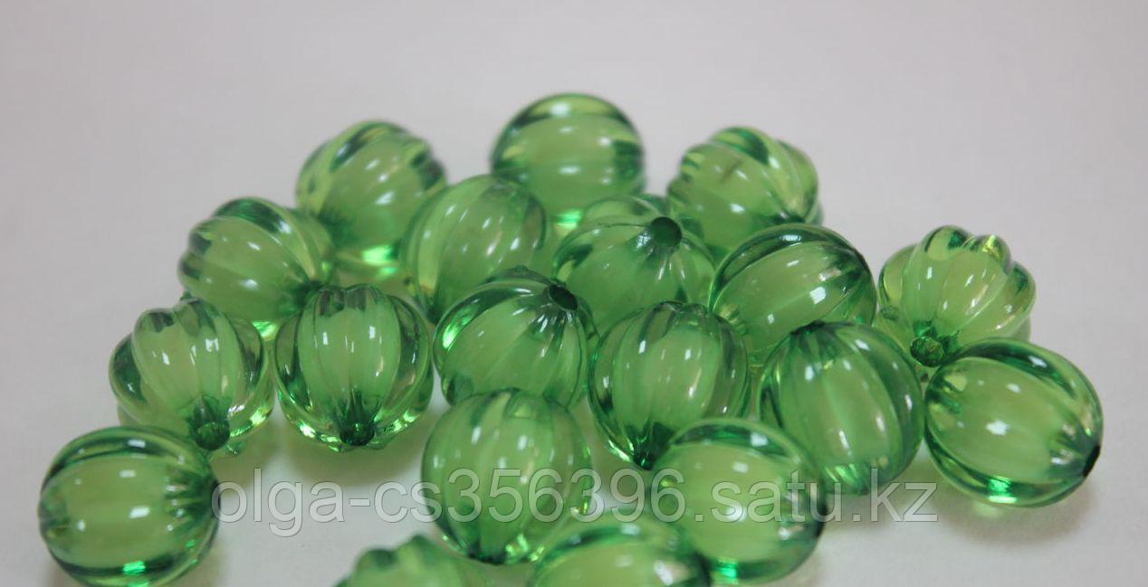 Бусины акриловые (d-1,2 см.). Зеленые.Creativ 1338 - 1