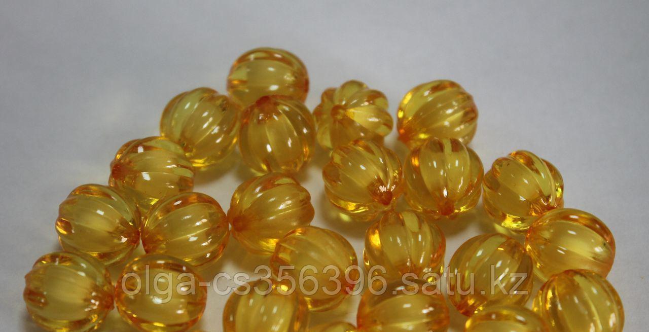 Бусины акриловые (d-1,2 см.). Желтые.  Creativ  1843