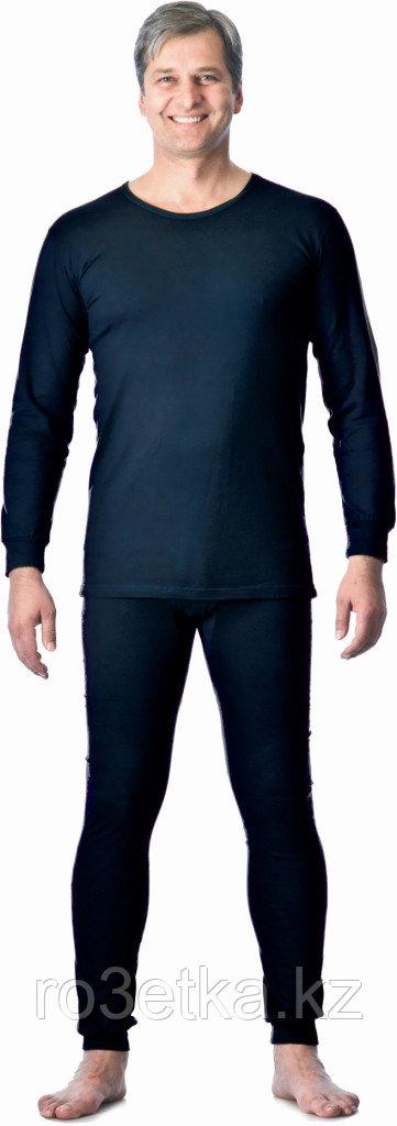 Бельё нательное трикотажное с начёсом (зима), темно-синий, пл. 250 г/кв.м., 100% х/б, Узбекистан