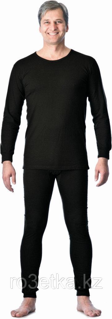 Бельё нательное трикотажное с начёсом (зима), черный, пл. 250 г/кв.м., 100% х/б, Узбекистан