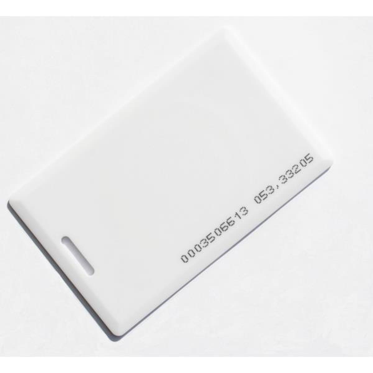 Бесконтактная карта доступа стандартная  формата EMM, тонкая без отверстия, 125 кГц, белая