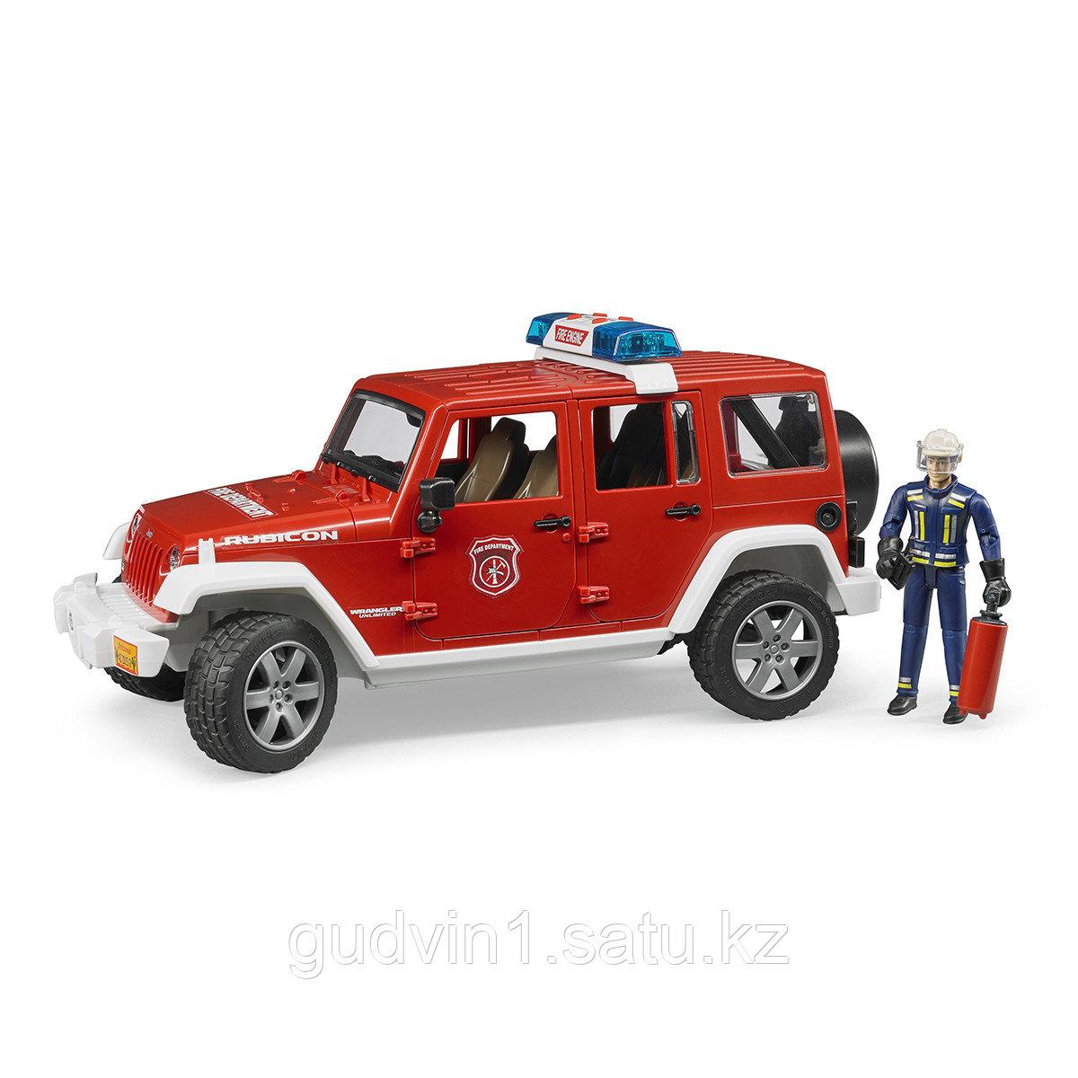 Bruder Внедорожник Jeep Wrangler Unlimited Rubicon Пожарная с фигуркой 02-528