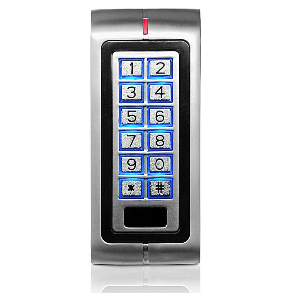 Цифровая антивандальная кодонаборная панель 7612 RFID (EMID, Mifare), металлическая, накладная, кнопочная