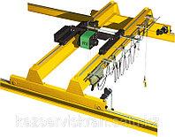 Кран мостовой опорный двухбалочный г/п 20/5 т управление с кабины