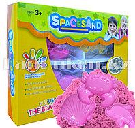 Набор кинетический песок 2 цвета, 2 комплекта игрушек (розовый)