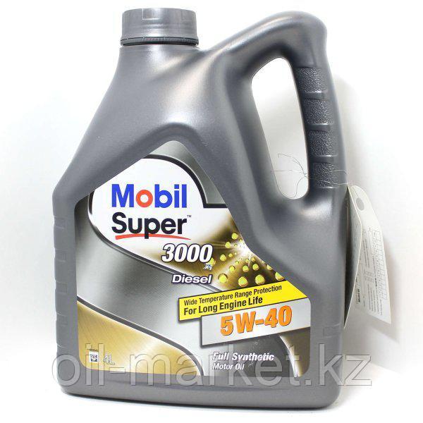 Моторное масло Mobil Super™ 3000 X1 Diesel 5W-40 4л синтетическое