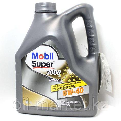 Моторное масло Mobil Super™ 3000 X1 Diesel 5W-40 4л синтетическое , фото 2
