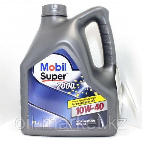 Моторное масло Mobil Super™ 2000 X1 10W-40 4л полусинтетическое , фото 2