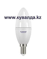 Светодиодная энергосберегающая лампа General lighting Systems ЭКО 8 Ватт 638200 (Свеча)