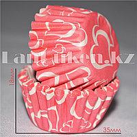 Формочки для мини кексов 1000 штук (красные)